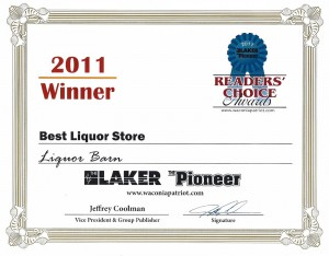 Best Liquor Store 2011 Award